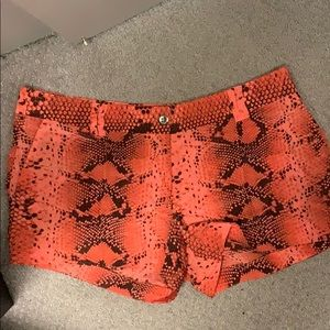 Elizabeth and James silk snakeskin shorts